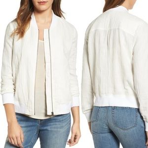 Hinge Cotton and Linen Bomber Jacket